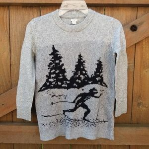 J. Crew Factory Instarsia Knit Ski Sweater Small